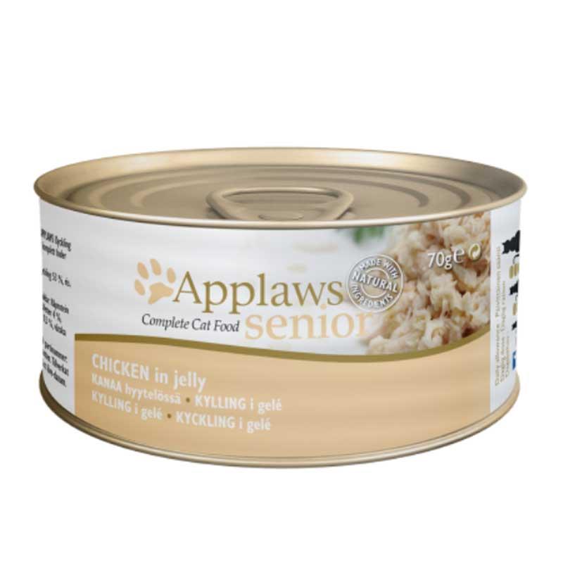 Applaws Senior Tin – Chicken - консерва за възрастни котки с пилешко месо в желе 70гр