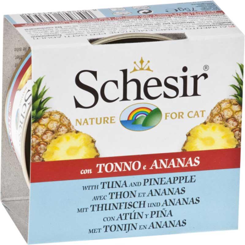 Schesir Nature Tuna with Pineaple - риба тон с ананас 75гр