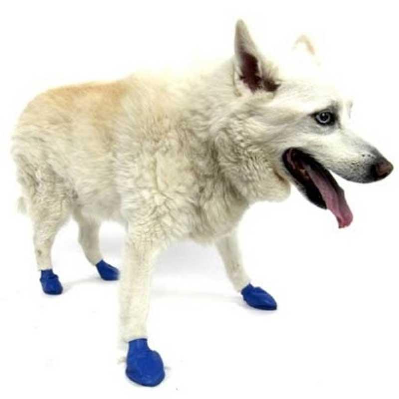 Pawz Medium Blues - каучукова водоустойчива обувка за кучета с дължина на лапата до 7.5см 1бр