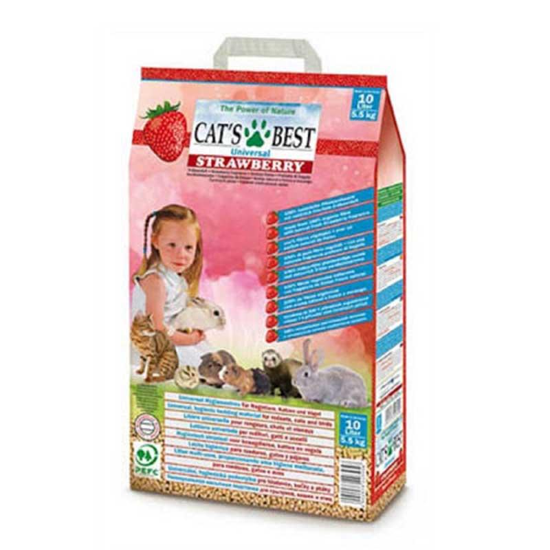 Cats Best Universal Strawberry - натурална постелка с аромат на ягоди 10л