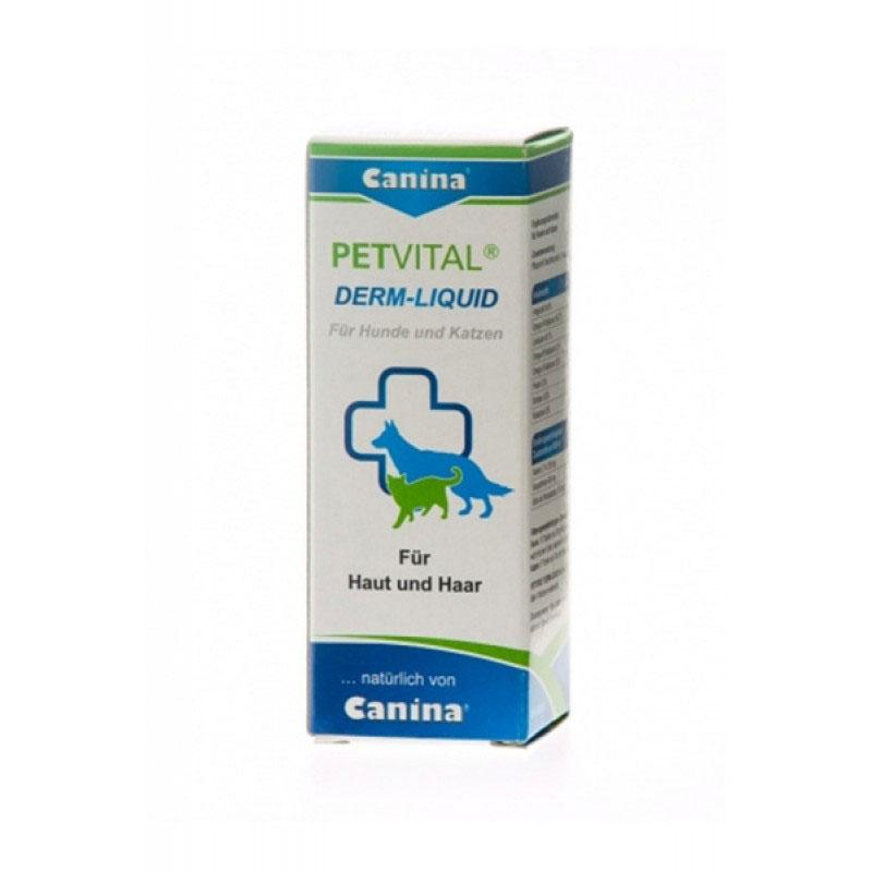 Canina Petvital Derm-Liquid - при метаболитни, хормонални и алергични проблеми свързани с кожни проблеми 25мл