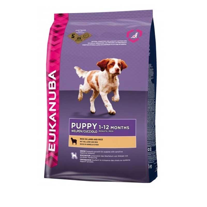 Eukanuba Puppy All Breeds Lamb & Rice - за кученца от всички породи с агнешко месо