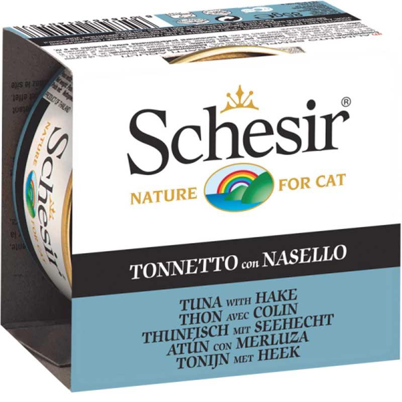 Schesir Nature Tuna with Hake - с риба тон и хек 85гр