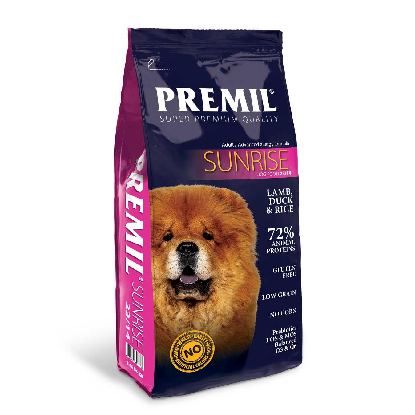 Premil Sunrise 23/14 - с агнешко месо и ориз 15кг