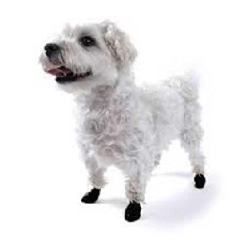 Pawz Tiny Black - каучукова водоустойчива обувка за кучета с дължина на лапата до 2.5см 1бр
