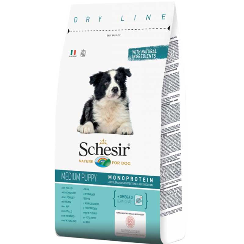 Schesir Puppy Maintenance with Chicken Monoprotein - пълноценна храна с пилешко месо, за кучета от 1 до 12 месечна възраст