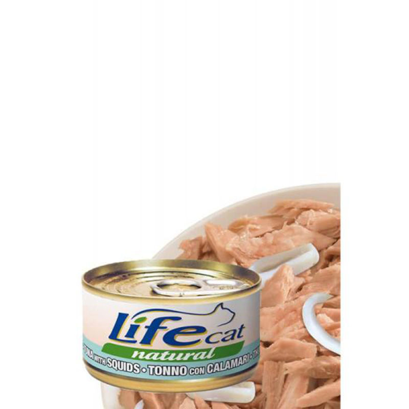 Life Natural Tuna with Squid - с филе риба тон и калмари 70гр
