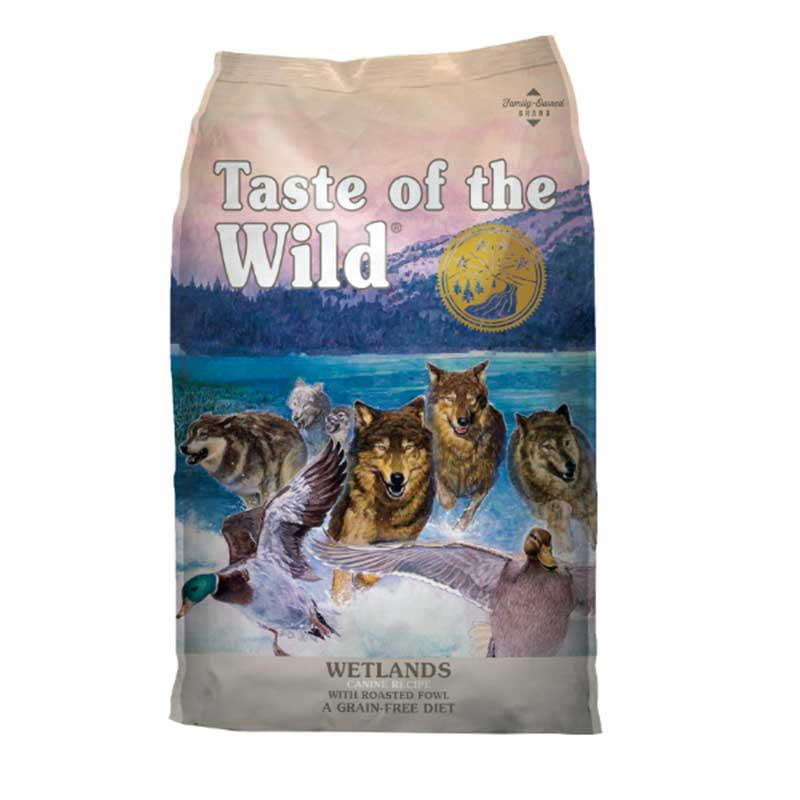 Taste of the Wild Wetlands Canine Formula Roasted Fowl - кучешка храна с птиче месо 13кг