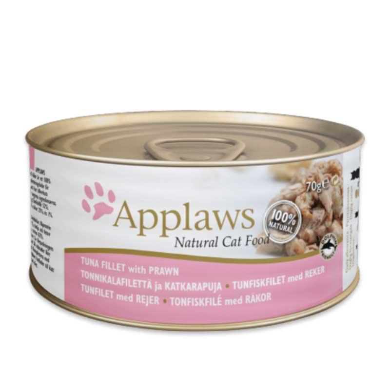 Applaws Tuna Fillet with Prawn - консерва с риба тони скариди в бульон
