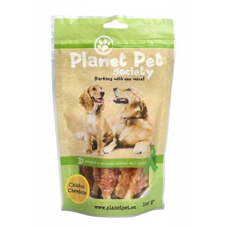 Planet Pet Chicken Chewbone - лакомство за кучета с пилешко от прясно месо 100гр