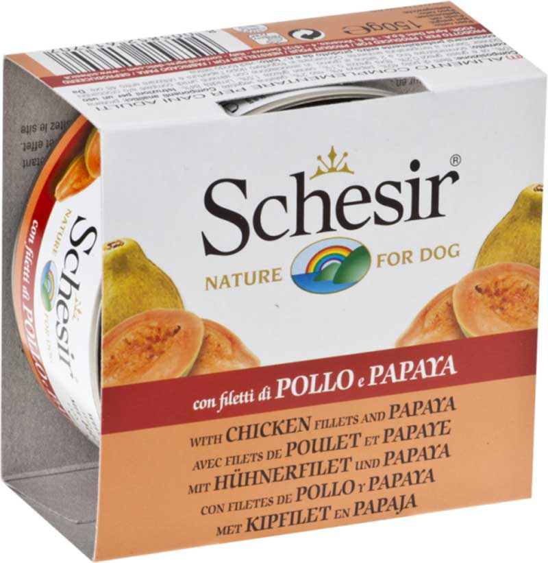 Schesir Nature Chicken and Papaya - с пилешко филе и папая - 150гр