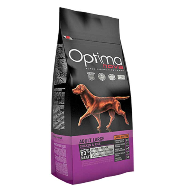 Optima Nova Adult Large Chicken & Rice 12кг