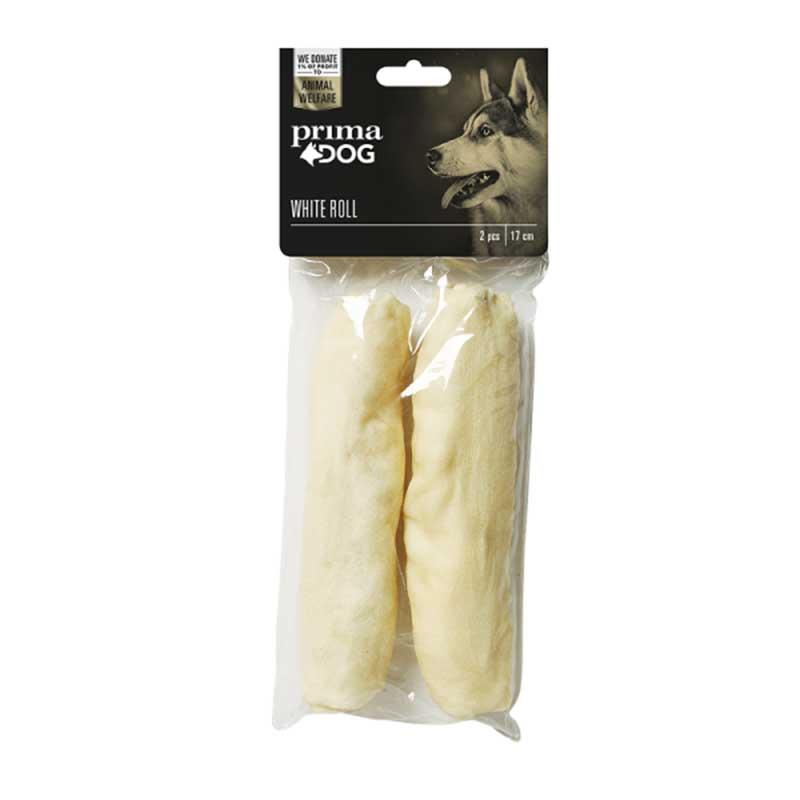 PrimaDog White Roll - лакомство от обработена сурова кожа 17см/2бр