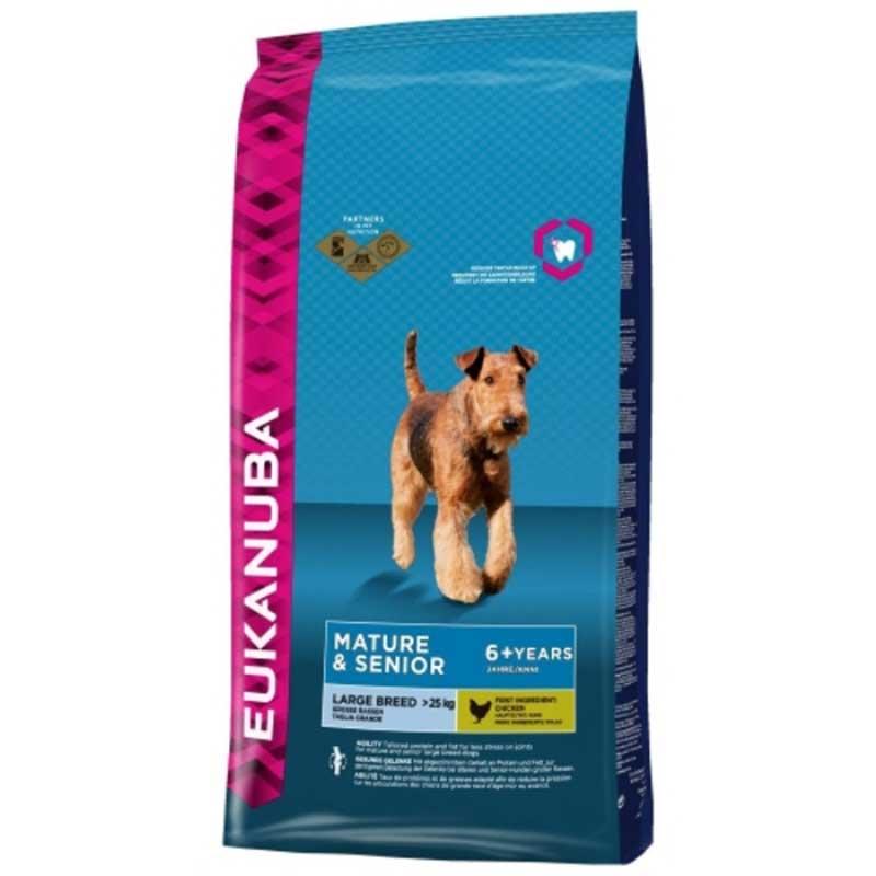Eukanuba Dog Mature & Senior Large Breed - за възрастни кучета от големи/гигантски породи над 25кг и над 6години 15кг