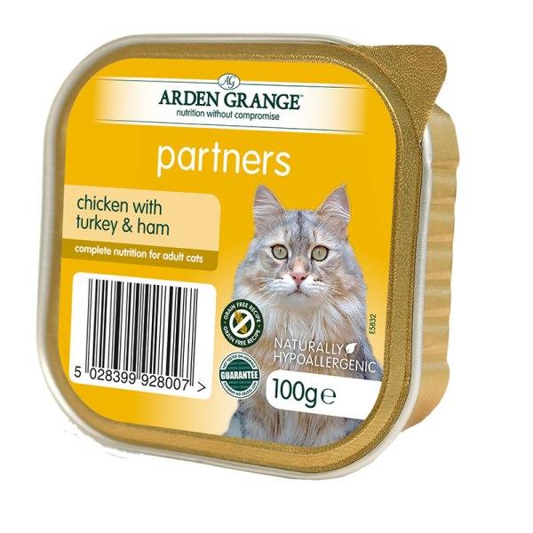 Arden Grange - пастет с пиле с пуешко и шунка   2бр + 1 безплатен