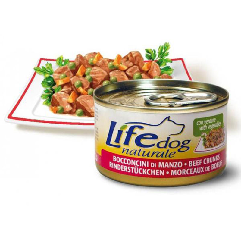 Life Natural Lifedog Beef Chunks - с телешки хапки 90гр