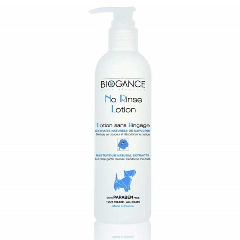 Biogance No Rinse Lotion Dog - почистващ и дезодориращ лосион, без изплакване 250мл