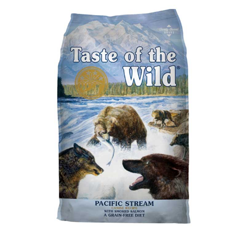 Taste of the Wild Pacific Stream Canine Formula Smoked Salmon - кучешка храна с пушено месо от сьомга 13кг