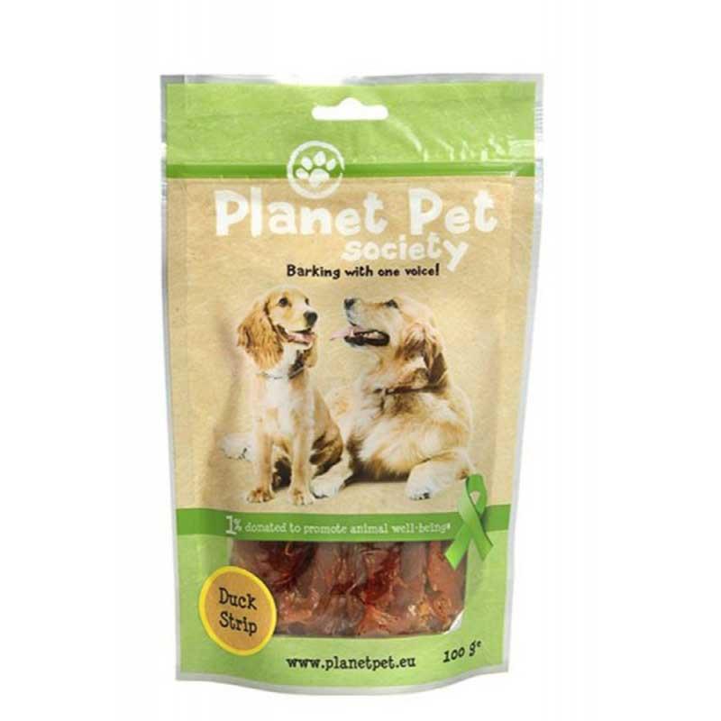 Planet Pet Duck Strip - лакомство за кучета с патешко от прясно месо 100гр