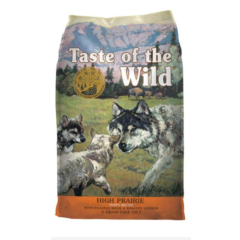 Taste of the Wild High Prairie Puppy Bison & Roasted Venison - кучешка храна с бизонско и еленско месо 13кг