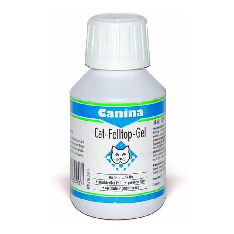 Canina Cat-Felltop - Gel - биотин-цинков продукт с отличен вкус, за красива козина и здрава кожа 100мл