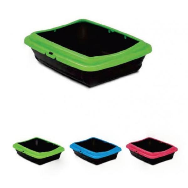 M.P. Bergamo Birba Color - котешка тоалетна с борд 46/36/12см
