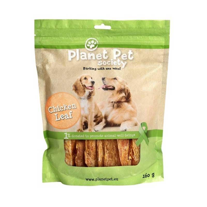 Planet Pet Chicken Leaf - лакомство за кучета с пилешки гърди от прясно месо 160гр