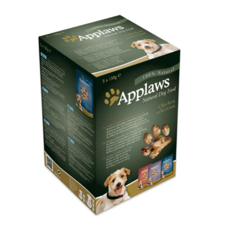 Applaws Chicken Selection Multipack - пауч комбинирани 5х150гр