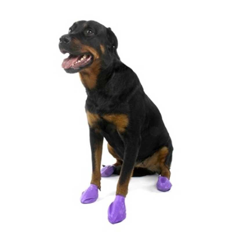 Pawz Large Purple - каучукова водоустойчива обувка за кучета с дължина на лапата до 10см 1бр