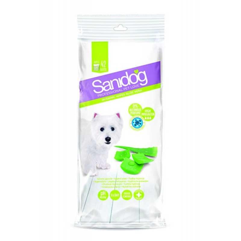 Sanidog Wipes Aloe Vera - мокри кърпички с алое вера 42бр