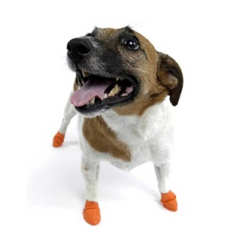 Pawz XSmall Orange - каучукова водоустойчива обувка за кучета с дължина на лапата до 5см 1бр