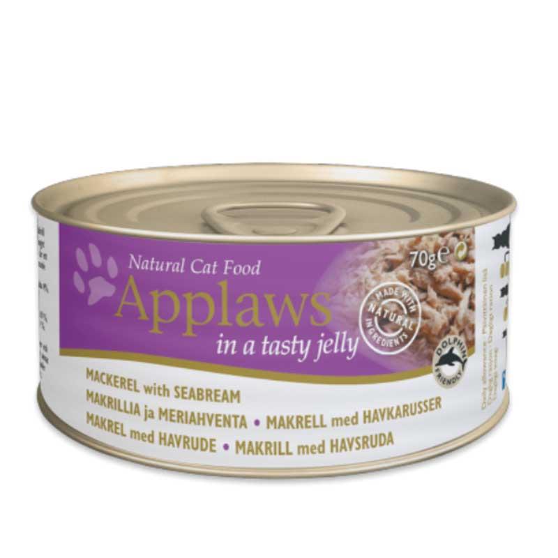 Applaws Mackerel with Seabream in Jelly - консерва със скумрия и ципува в желе 70гр