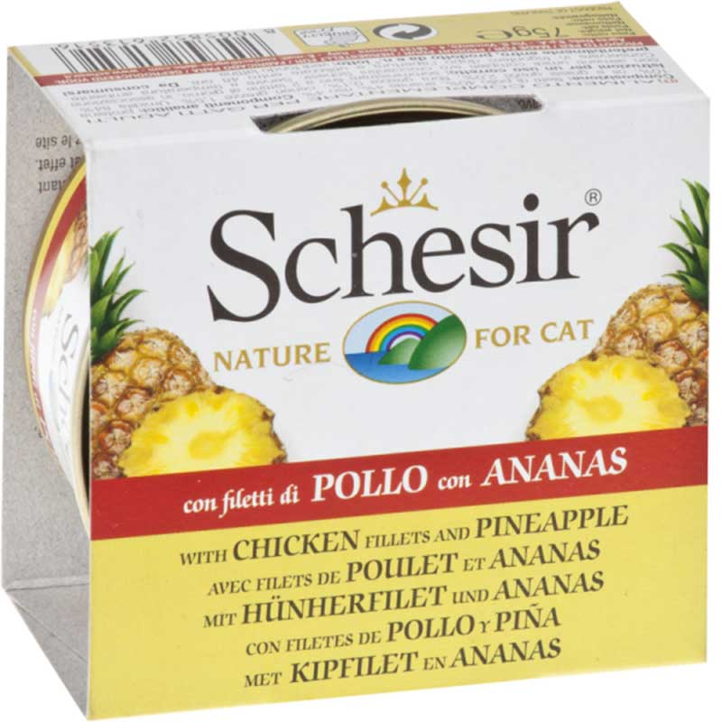 Schesir Nature Chicken and Pineapple - пилешки филенца с ананас 75гр
