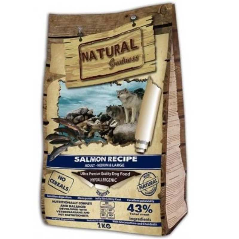 Natural Greatness Sensitive Medium/Large Salmon - Сенситив за средни и едри породи със сьомга