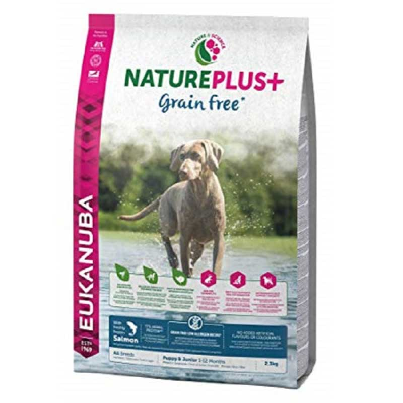 Eukanuba NaturePlus Grain Free Puppy Salmon - храна за кученца, без зърнени добавки