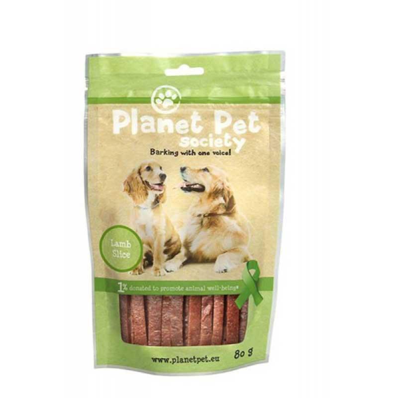 Planet Pet Lamb Slice - лакомство за кучета с агнешко от прясно месо 80гр