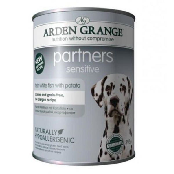 Arden Grange Partners Sensitive - с бяла риба 395гр