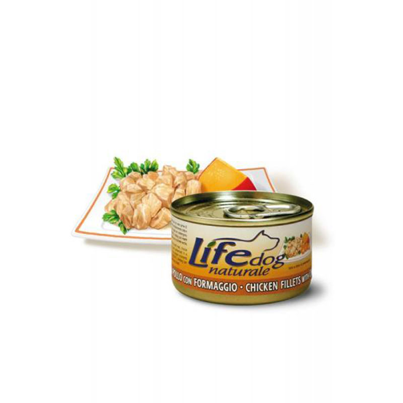 Life Natural Lifedog Chicken Fillets with Cheese - с пилешки филенца и сирене 90гр