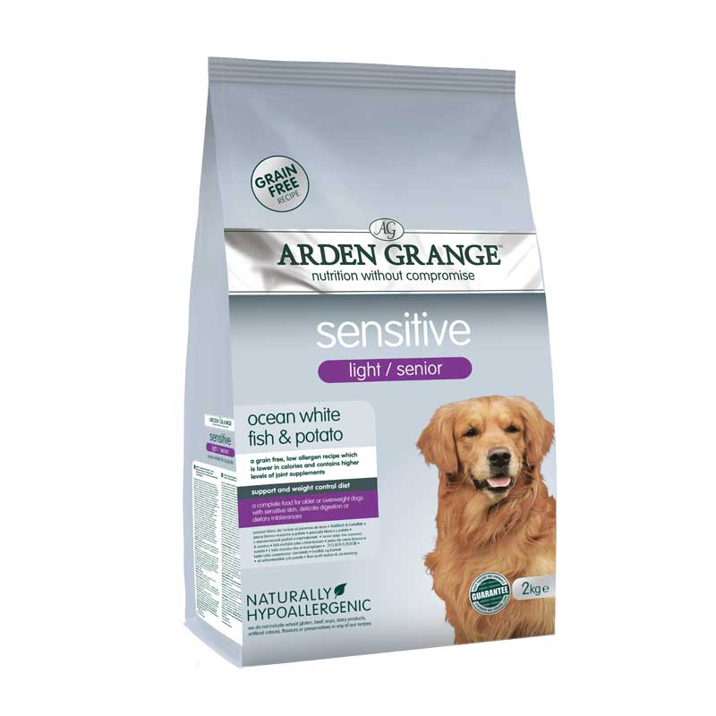 Arden Grange Sensitive Senior/Light Grain free - с бяла риба и картоф