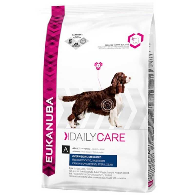 Eukanuba Daly Care Overweight Sterilized - за кастрирани мъжки и женски кучета