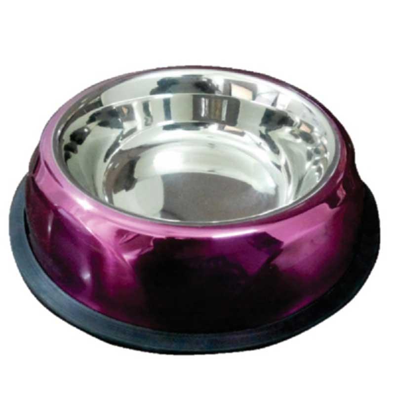Petex Purple - метална купичка за храна или вода, лилава