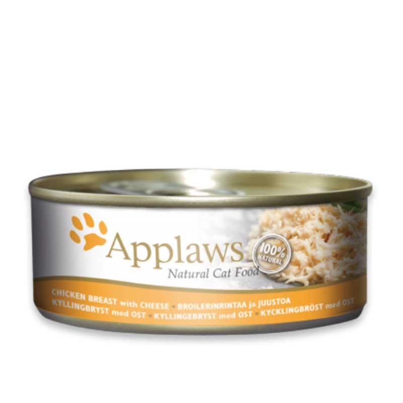 Applaws Chicken Breast with Cheese - консерва с пилешко месо и сирене в бульон