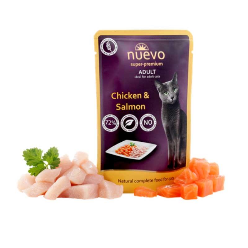 Nuevo Chicken & Salmon - с пилешко месо и сьомга 5x85гр