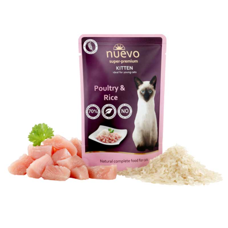 Nuevo Chicken Kitten - с пилешко месо и ориз, за малки котенца 5х85гр