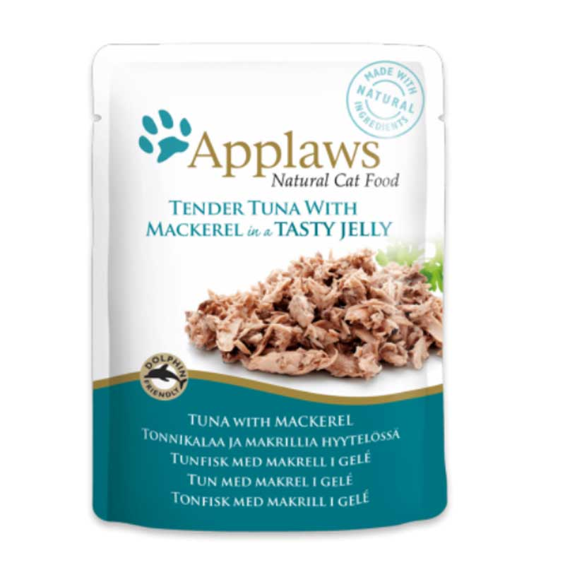 Applaws Tuna Wholemeat with Mackerel in Jelly  - пауч с риба тон и скумрия в желе 70гр