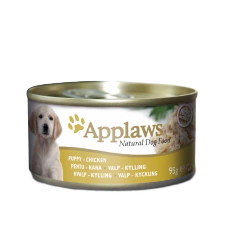 Applaws Puppy Tin Chicken - месни хапки с пилешко филе за куенца 95гр