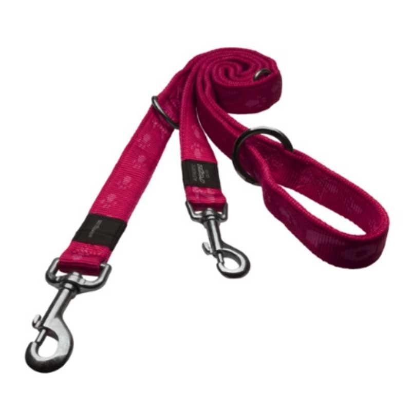 Rogz Alpinist K - розов двоен повод за кучета