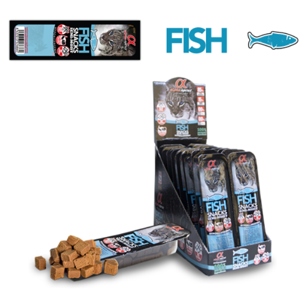 Alpha Spirit Fish Snack for cats - лакомство с риба 4x35гр