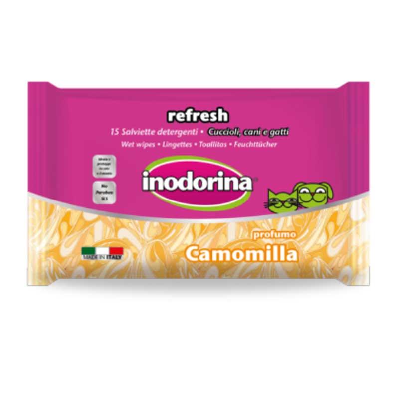 Inodorina Refresh - мокри кърпички за очи и уши с лайка 15бр