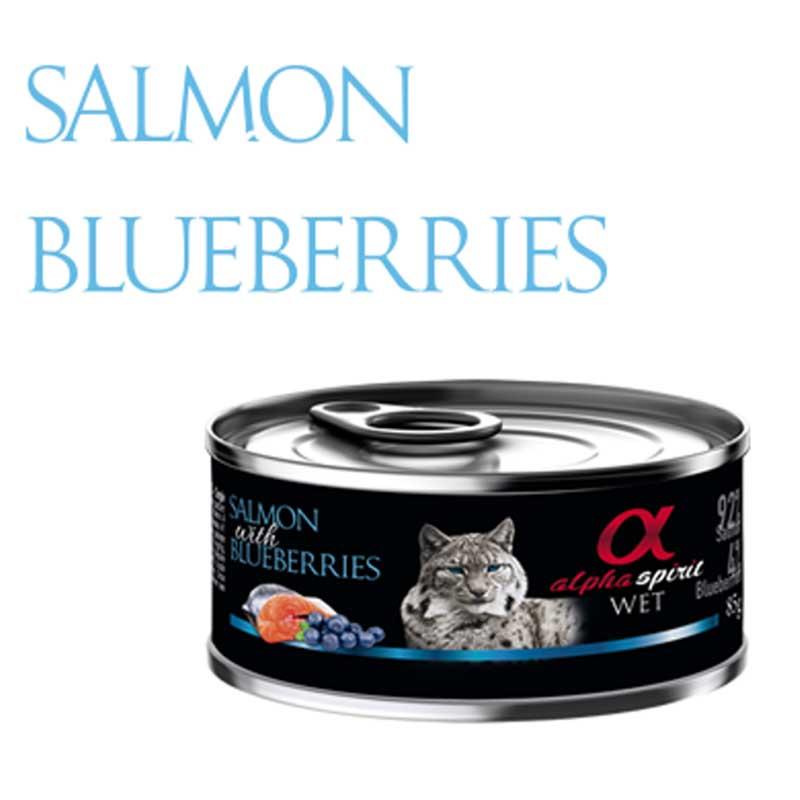 Alpha Spirit Salmon with Blueberries - консерва със сьомга и боровинки 85гр